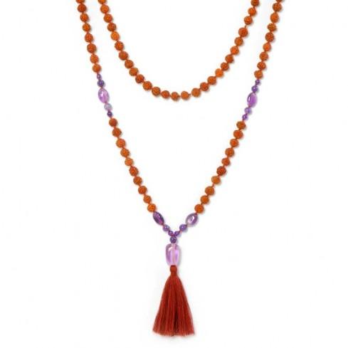 Malas rudraksha pierres fines et pâte de verre - BIJOUX FANTAISIE - Boutique Nirvana