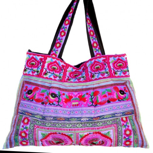 Grand sac ethnique hanses broderies India - BAGS - Boutique Nirvana