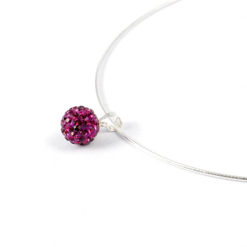 Silver strass purple