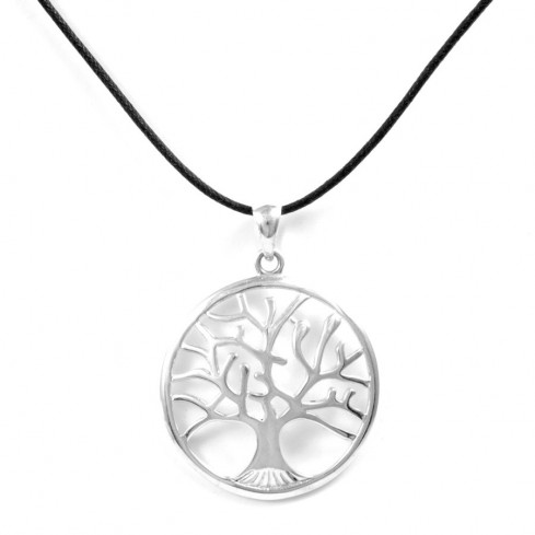 Grand pendentif bombé arbre de vie - Tree of Life - Boutique Nirvana