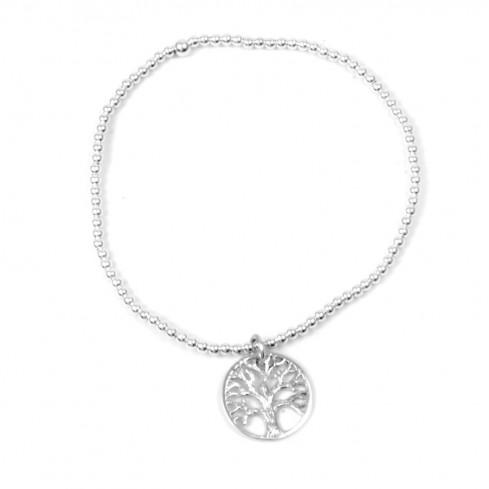 Bracelet perles d'argent arbre de vie - ARBRE DE VIE - Boutique Nirvana