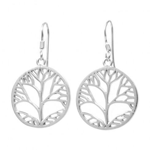 Boucles d'oreilles arbre de vie moyen - ARBRE DE VIE - Boutique Nirvana
