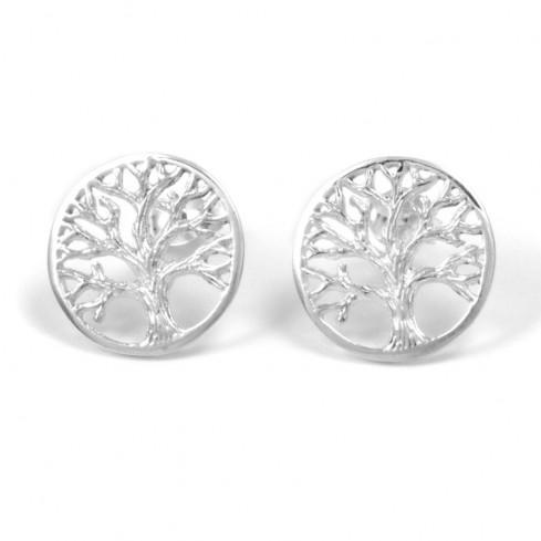 Petites boucles d'oreilles arbre de vie clou - Tree of Life - Boutique Nirvana