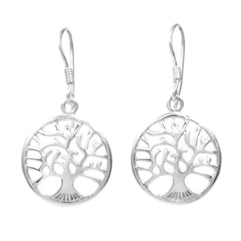 Petites boucles d'oreilles arbre de vie bombé - ARBRE DE VIE - Boutique Nirvana