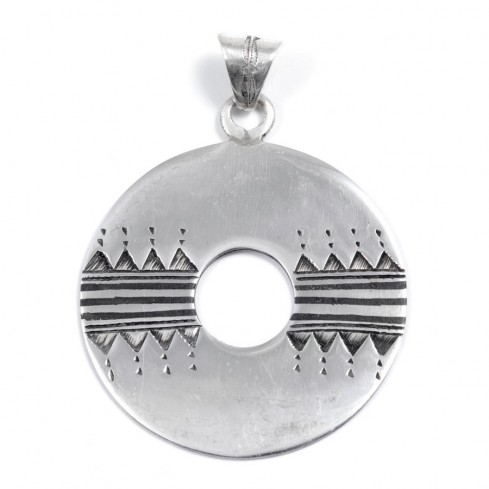 Pendentif Touareg disque - Silver Jewellery  - Boutique Nirvana