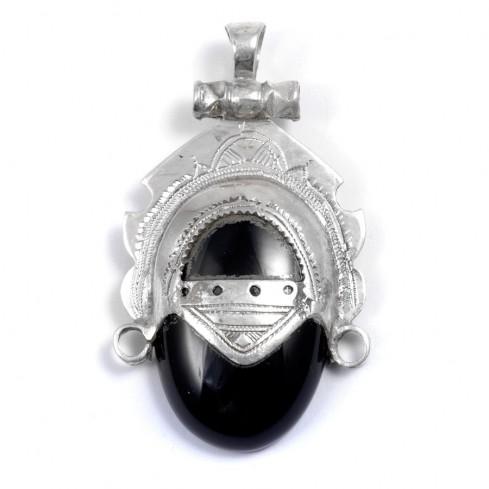 Pendentif Touareg onyx noir - Silver Jewellery  - Boutique Nirvana