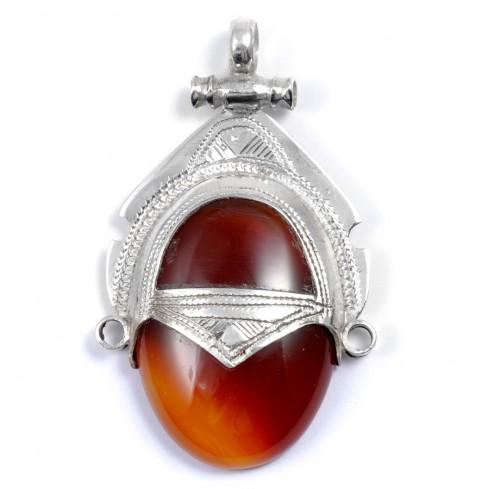 Pendentif Touareg Cornaline - Silver Jewellery  - Boutique Nirvana