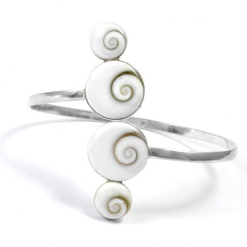 Bracelet rigide 4 Oeil de Sainte Lucie - Silver Bracelets - Boutique Nirvana