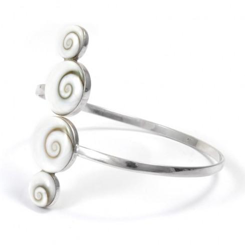 Bracelet rigide 4 Oeil de Sainte Lucie - BRACELETS ARGENT - Boutique Nirvana