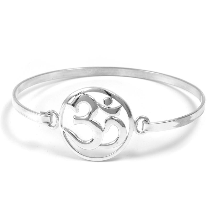 Bracelet rigide Om - Silver Bracelets - Boutique Nirvana