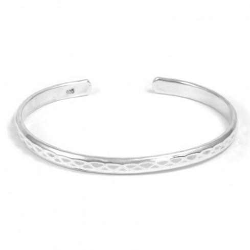 Bracelet fin argent rigide