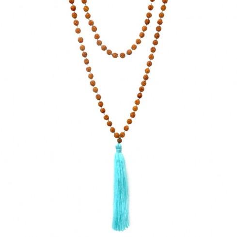 Mala rudraksha et pompons couleurs - Malas - Boutique Nirvana