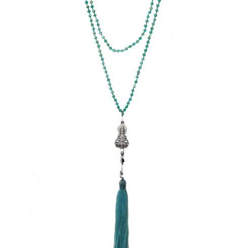 Mala cristal bouddha assis - Malas - Boutique Nirvana