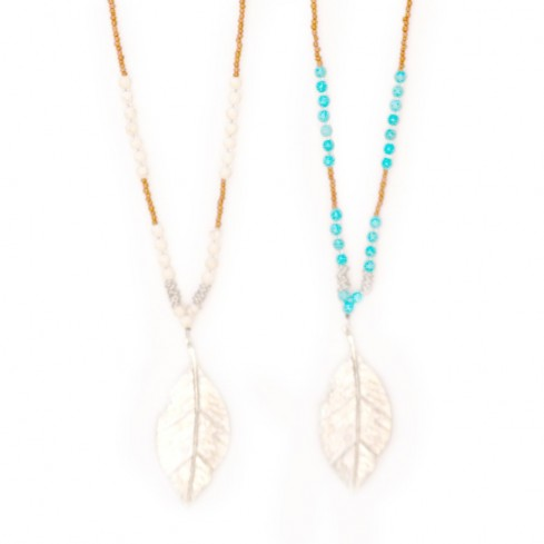Collier pendentif feuille - Colliers - Boutique Nirvana