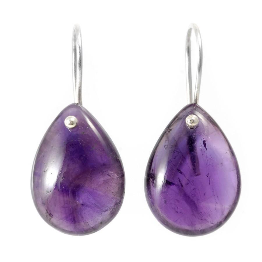 Boucles d'oreilles pendantes goutte simple - SILVER EARRINGS - Boutique Nirvana