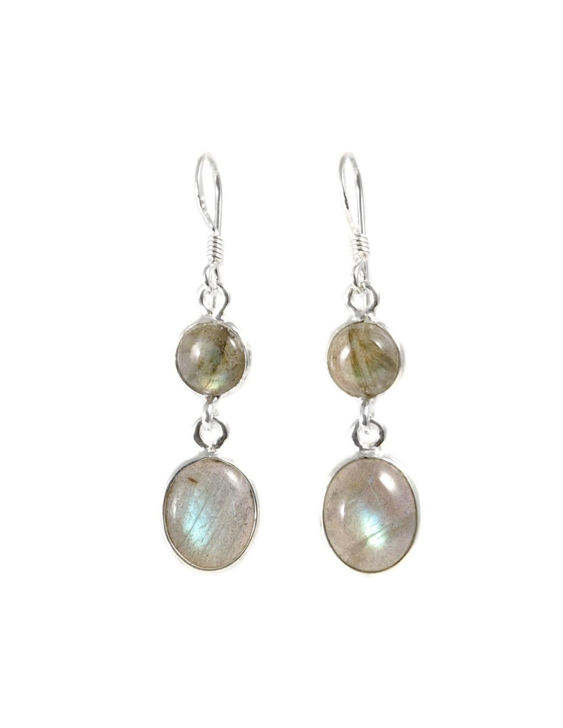 Boucle d 39 oreilles avec pierre ronde et ovale boutique nirvana - Grosses boucles d oreilles pendantes ...