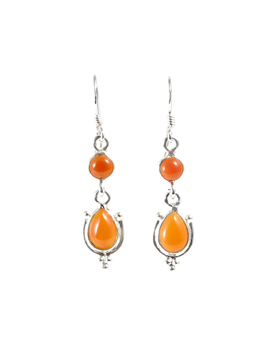 Boucle d 39 oreilles pendantes pierre ronde et goutte boutique nirvana - Grosses boucles d oreilles pendantes ...