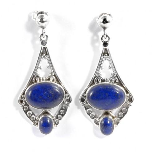 Boucles d'oreilles Taj mahal pierre fine - BIJOUX ARGENT - Boutique Nirvana