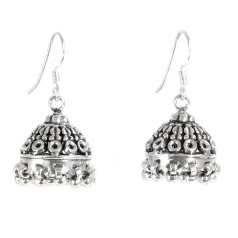 Boucles d'oreilles argent cloches et billes - Silver Jewellery  - Boutique Nirvana