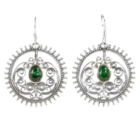 Boucles d'oreilles argent Peacock - BIJOUX ARGENT - Boutique Nirvana