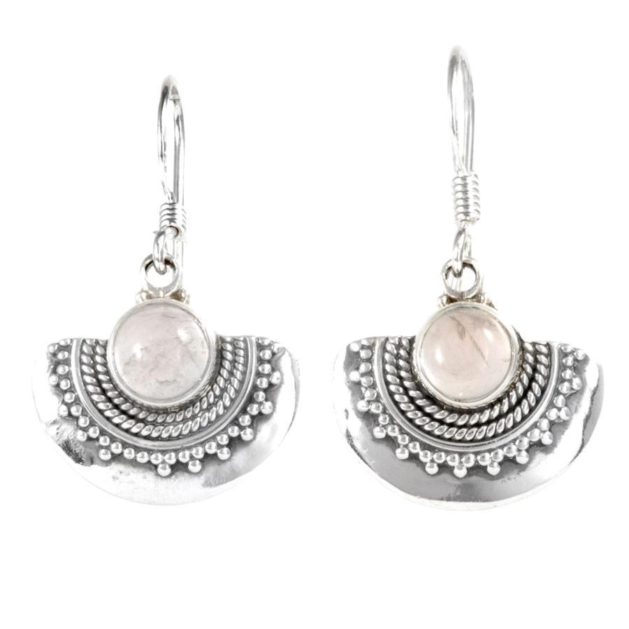 Boucles d'oreilles argent Sanjita - PIERRES FINES - Boutique Nirvana
