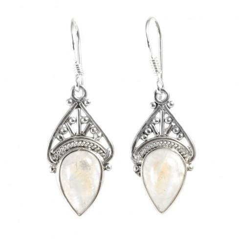 Boucles d'oreilles argent Kiran - Silver Jewellery  - Boutique Nirvana
