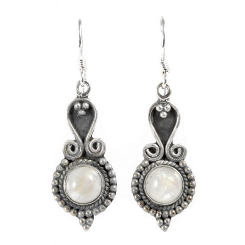 Boucles d'oreilles argent Katmandou - BIJOUX ARGENT - Boutique Nirvana