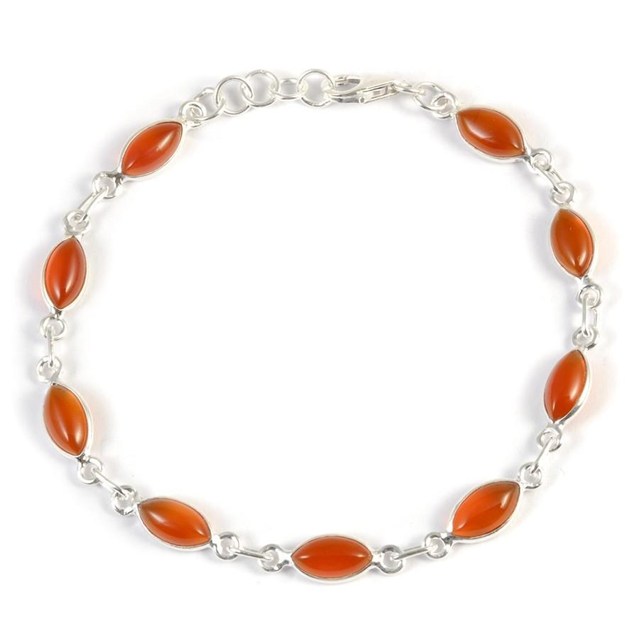 Bracelet argent pierres losanges