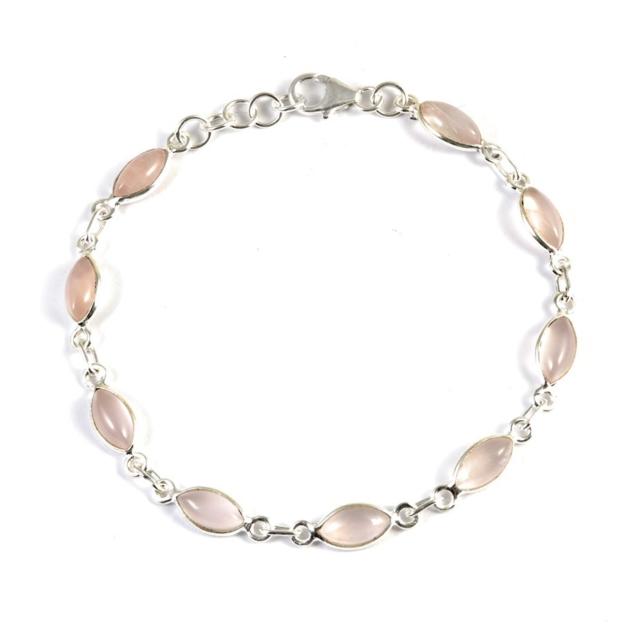 Bracelet argent pierres