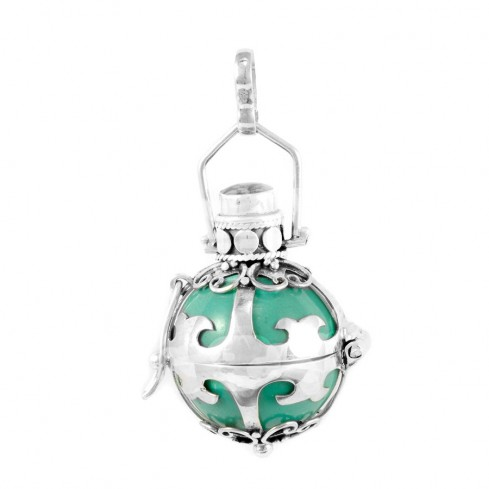 Bola cage émaillé - Silver Jewellery  - Boutique Nirvana