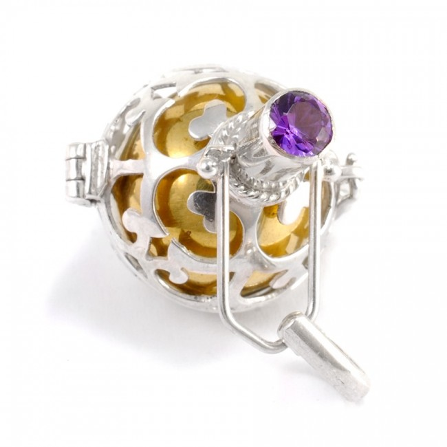 Bola cage Ama - Silver Jewellery  - Boutique Nirvana