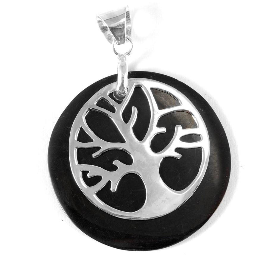 Pendentif pierre avec arbre de vie - SAINTE LUCIE - Boutique Nirvana