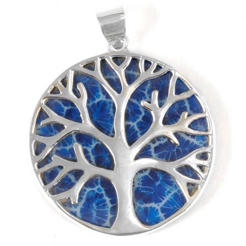 Grand arbre de vie en argent serti sur nacre - Silver Jewellery  - Boutique Nirvana
