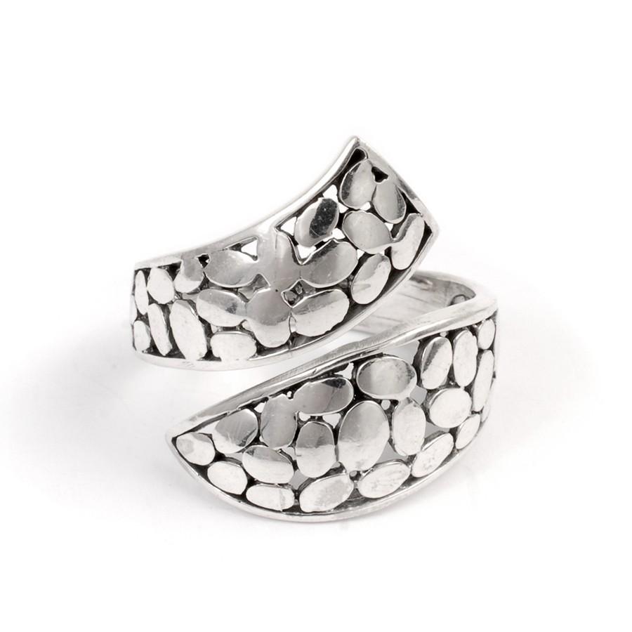 Bague croisée argent réglable - Silver Jewellery  - Boutique Nirvana