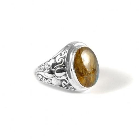 Chevalière argent avec pierre naturelle - Silver Jewellery  - Boutique Nirvana