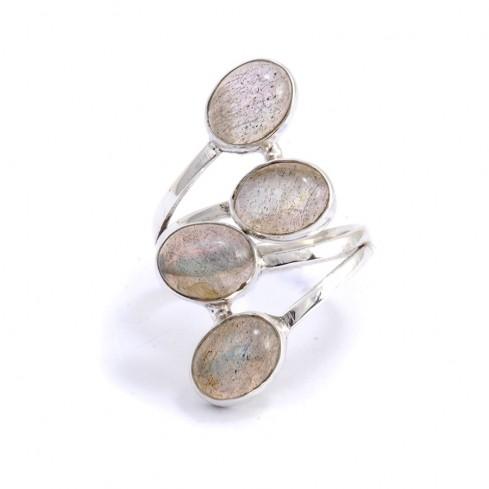 Bague réglable argent 4 pierres - BIJOUX ARGENT - Boutique Nirvana