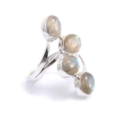 Bague réglable argent 4 pierres - Silver Jewellery  - Boutique Nirvana