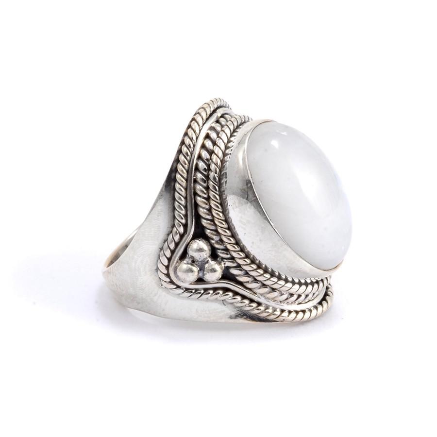 Bague argent et pierre Goa - Silver Jewellery  - Boutique Nirvana