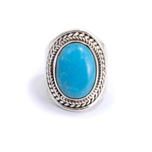 Bague argent pierre ovale Santosha - Silver Rings - Boutique Nirvana