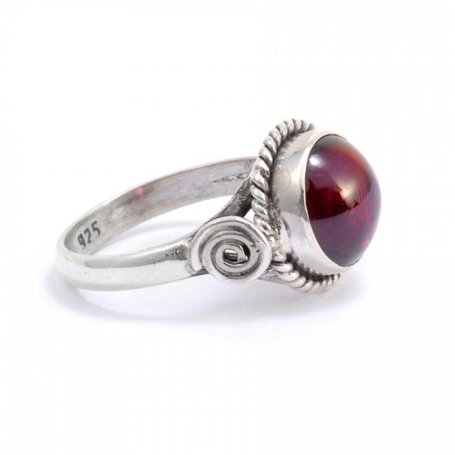 Bague argent fine pierre ronde Apana - Silver Rings - Boutique Nirvana