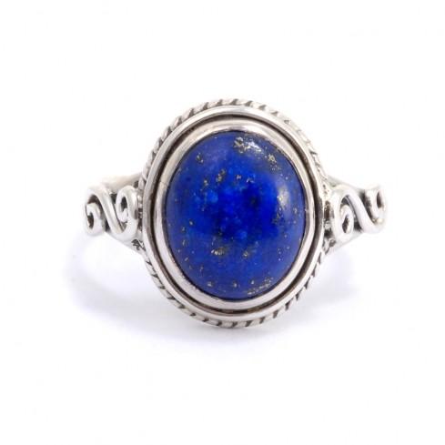 Bague fine en argent pierre ovale Adhi - BAGUES ARGENT - Boutique Nirvana