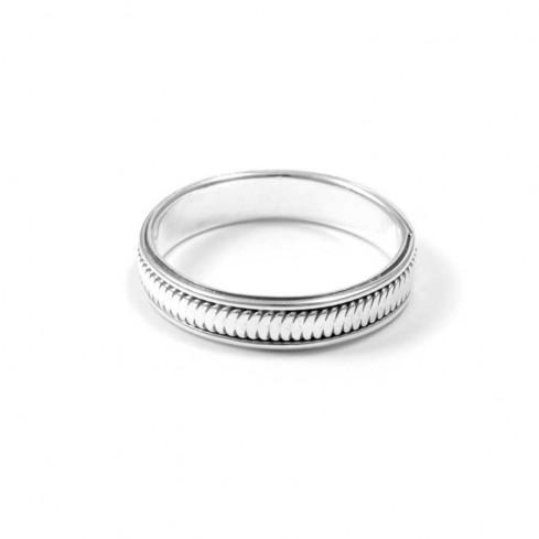 Anneau argent ciselé fin - Silver Rings - Boutique Nirvana
