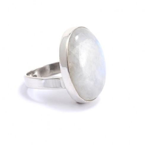 Bague argent et pierre réglable Prana - Silver Rings - Boutique Nirvana