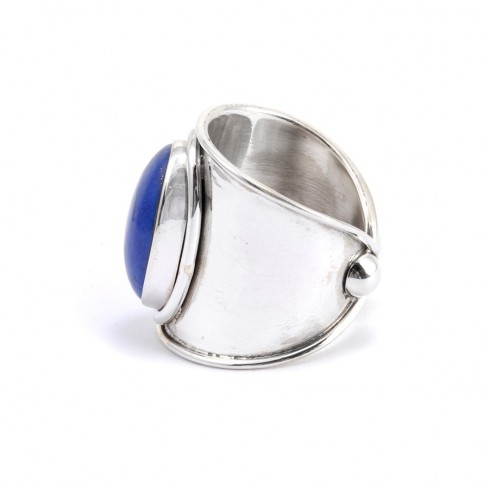Bague large anneau réglable et pierre Pendjab - Pierres fines - Boutique Nirvana