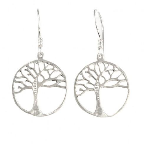 Boucles d'oreilles argent arbre de vie - Tree of Life - Boutique Nirvana