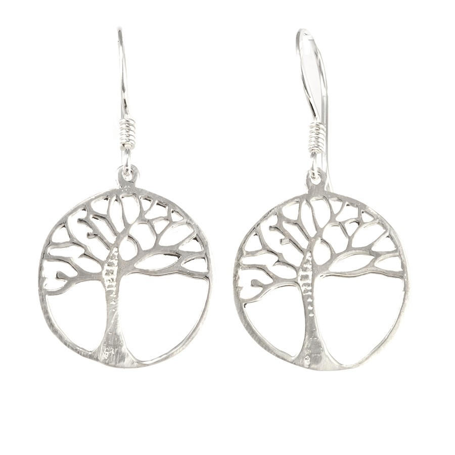 Boucles d'oreilles argent arbre de vie - ARBRE DE VIE - Boutique Nirvana