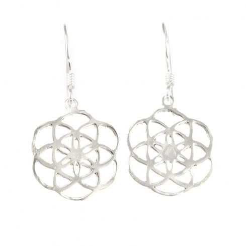 Boucles argent fleur de vie - SILVER EARRINGS - Boutique Nirvana