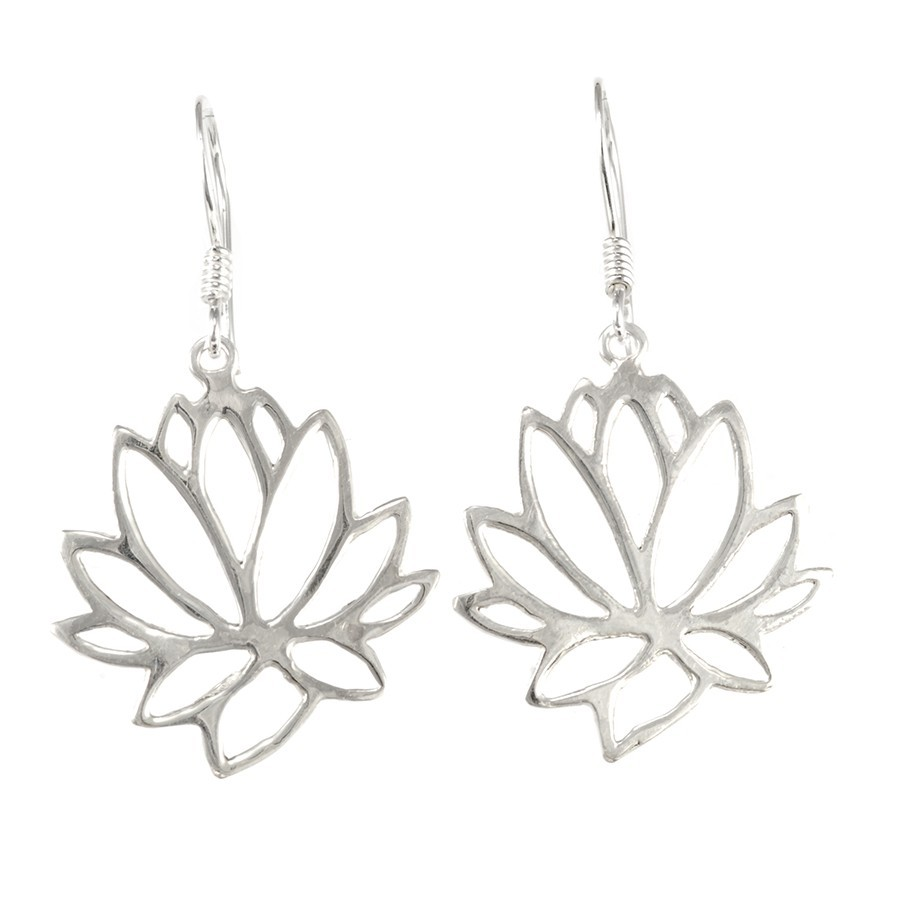 Boucles d'oreilles argent Lotus - SILVER EARRINGS - Boutique Nirvana