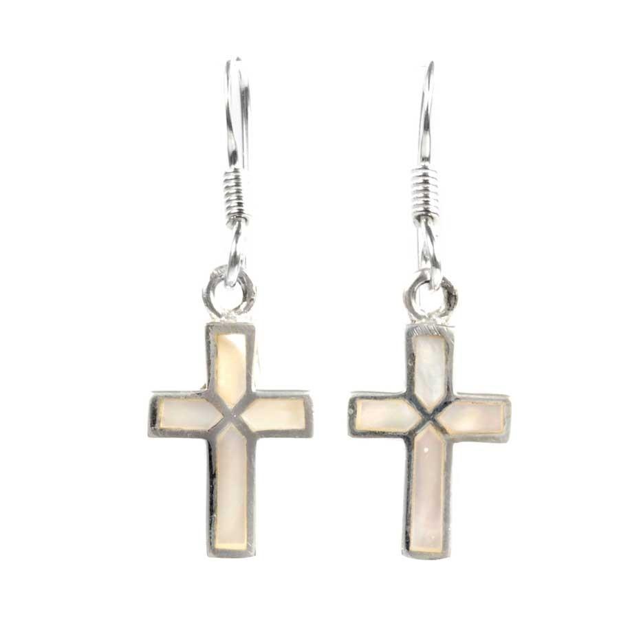 Boucles argent petites croix - SILVER EARRINGS - Boutique Nirvana
