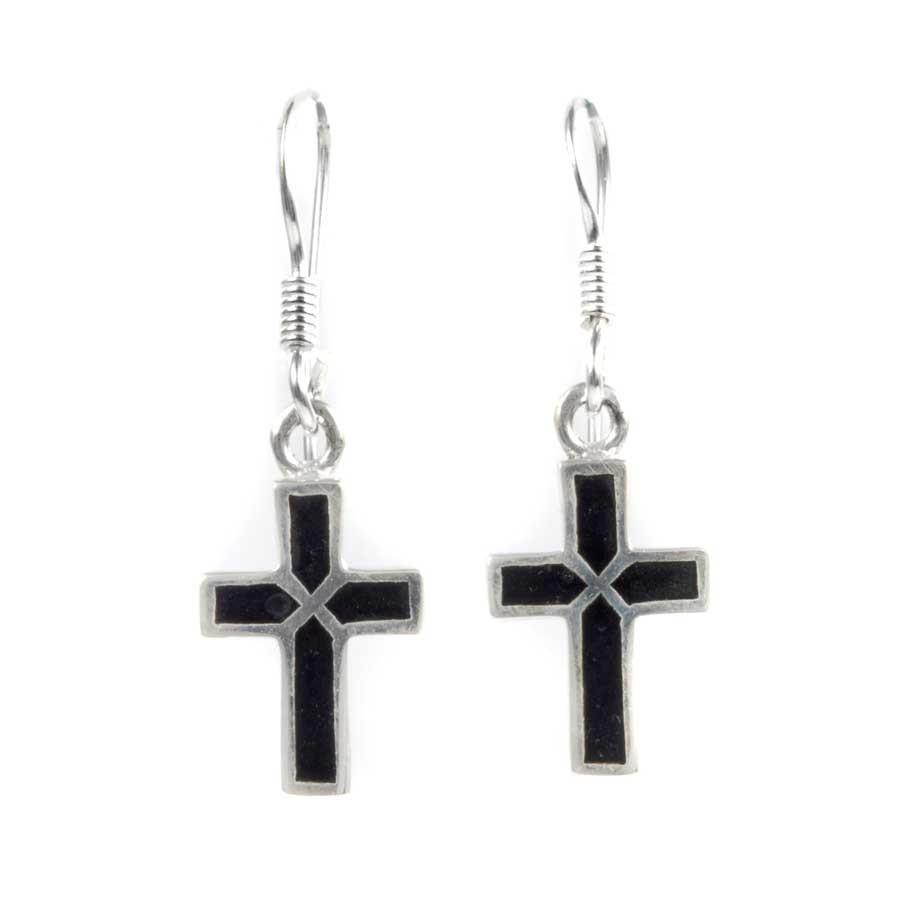 Boucles argent petites croix - BOUCLES ARGENT - Boutique Nirvana